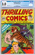 Golden Age (1938-1955):Adventure, Thrilling Comics #1 (Better Publications, 1940) CGC GD/VG 3.0 Off-white to white pages....