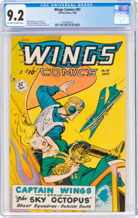Wings Comics #97 (Fiction House, 1948) CGC NM- 9.2 Off-white to white pages