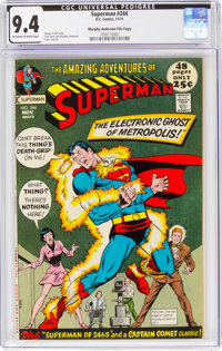 Superman #244 Murphy Anderson File Copy (DC, 1971) CGC NM 9.4 Off-white to white pages