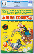 Platinum Age (1897-1937):Miscellaneous, King Comics #8 (David McKay Publications, 1936) CGC VG/FN 5.0 Off-white to white pages....