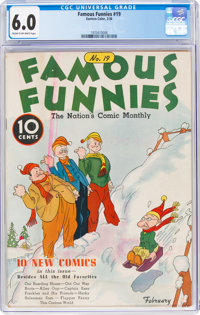Famous Funnies #19 (Eastern Color, 1936) CGC FN 6.0 Cream to off-white pages