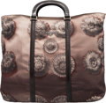 """Luxury Accessories:Bags, Prada Grey and Brown Floral Print Nylon Shopping Tote with Pochette. Condition: 1. 20"""" Width x 14"""" Height x 5"""" Depth... (Total: 2 )"""