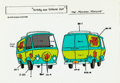 Animation Art:Color Model, Scooby-Doo and Scrappy-Doo Mystery Machine Color Model Cel (Hanna-Barbera, 1979)....