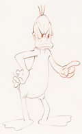 Animation Art:Production Drawing, Ain't it Ducky Daffy Duck Animation ...
