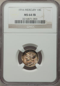 1916 10C MS64 Full Bands NGC. NGC Census: (771/1194). PCGS Population: (1724/1850). CDN: $65 Whsle. Bid for problem-free...