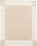 """Luxury Accessories:Home, Hermès Coconut & Chamomile Wool and Cashmere Avalon Blanket. Condition: 1. 53"""" Width x 67"""" Length. ..."""