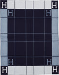 "Luxury Accessories:Home, Hermès Ecru & Caban Wool and Cashmere Avalon Blanket. Condition: 1. 53"" Width x 67"" Length. ..."