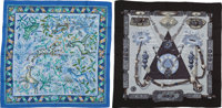 """Hermès Set of Two: Silk & Cashmere Scarves Condition: 1 55"""" Width x 55"""" Height"""