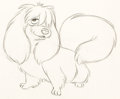 Animation Art:Production Drawing, Lady and the Tramp Peg Animation Drawing (Walt Disney, 1955).. ...