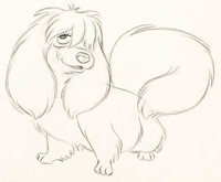 Lady and the Tramp Peg Animation Drawing (Walt Disney, 1955)