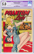 Golden Age (1938-1955):Crime, Phantom Lady #16 (Fox Features Syndicate, 1948) CGC Apparent VG/FN 5.0 Slight/Mod (A-2) Off-white to white pages....