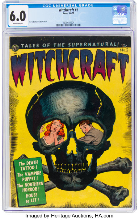 Witchcraft #2 (Avon, 1952) CGC FN 6.0 Off-white pages....