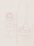 Animation Art:Production Drawing, Snow White and the Seven Dwarfs Snow White Drawing (Walt Disney, 1937).. ...
