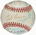 Autographs:Baseballs, Greats & Hall of Famers Multi-Signed Baseball (16 Signatures)....