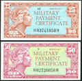 Military Payment Certificates:Series 611, Series 611 25¢ Gem New;. Series 611 50¢ Choice New.. ... (Total: 2 items)