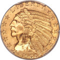 Indian Half Eagles, 1908-S $5 MS64+ PCGS. CAC....