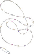 Estate Jewelry:Suites, Multi-Stone, White Gold Jewelry Suite. ... (Total: 2 Items)