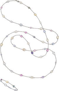 Multi-Stone, White Gold Jewelry Suite ... (Total: 2 Items)