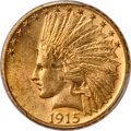 Indian Eagles, 1915-S $10 MS62 PCGS....