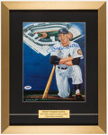 Autographs:Photos, Mickey Mantle Signed & Framed Photograph, PSA/DNA Mint 9....