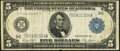 Large Size:Federal Reserve Notes, Fr. 855a $5 1914 Federal Reserve Note Fine.. ...