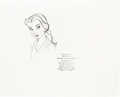 Animation Art:Production Drawing, Beauty and the Beast Belle Production Rough Drawing (Walt Disney, 1991).. ...