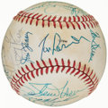 Autographs:Baseballs, 1982 National League All-Star Team Signed Baseball (22 Signatures)....