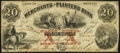 Obsoletes By State:Georgia, Savannah, GA- Merchants and Planters Bank $20 June 7, 1859 G12a Very Fine-Extremely Fine.. ...