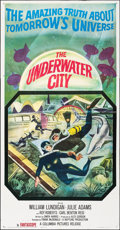 "Movie Posters:Science Fiction, The Underwater City (Columbia, 1961). Folded, Very Fine-. Three Sheet (41"" X 78""). Science Fiction.. ..."