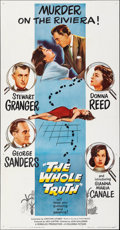 """Movie Posters:Thriller, The Whole Truth (Columbia, 1958). Folded, Very Fine. Three Sheet (41"""" X 79""""). Thriller.. ..."""
