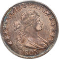 1803 50C Large 3, Small Reverse Stars, O-102a, T-2, High R.3, AU50 PCGS
