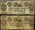 Obsoletes By State:New York, Albion, NY- Bank of Albion Counterfeit $2 (2) 18__ Reminder; Nov. 20,1862 Fine; Very Good.. ... (Total: 2 notes)