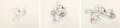 Animation Art:Production Drawing, The Worm Turns Mickey Mouse Animation Drawings Sequence of 3 (Walt Disney, 1937). ... (Total: 3...