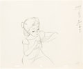 Animation Art:Production Drawing, Peter Pan Wendy Production Drawing (Walt Disney, 1953).. ...