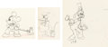 Animation Art:Production Drawing, Mickey's Service Station Mickey Mouse, Goofy, and Donald Duck Animation Drawings Group of 3 (Walt Disne...
