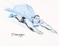 Original Comic Art:Illustrations, Darwyn Cooke - Superman Illustration Original Art (c. 2010)....