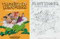 """Animation Art:Concept Art, The Flintstones """"Christmas Fun"""" Cover Layout and Cel Mock-Up Art (Hanna-Barbera, 1983).... (Total: 2 Items)"""