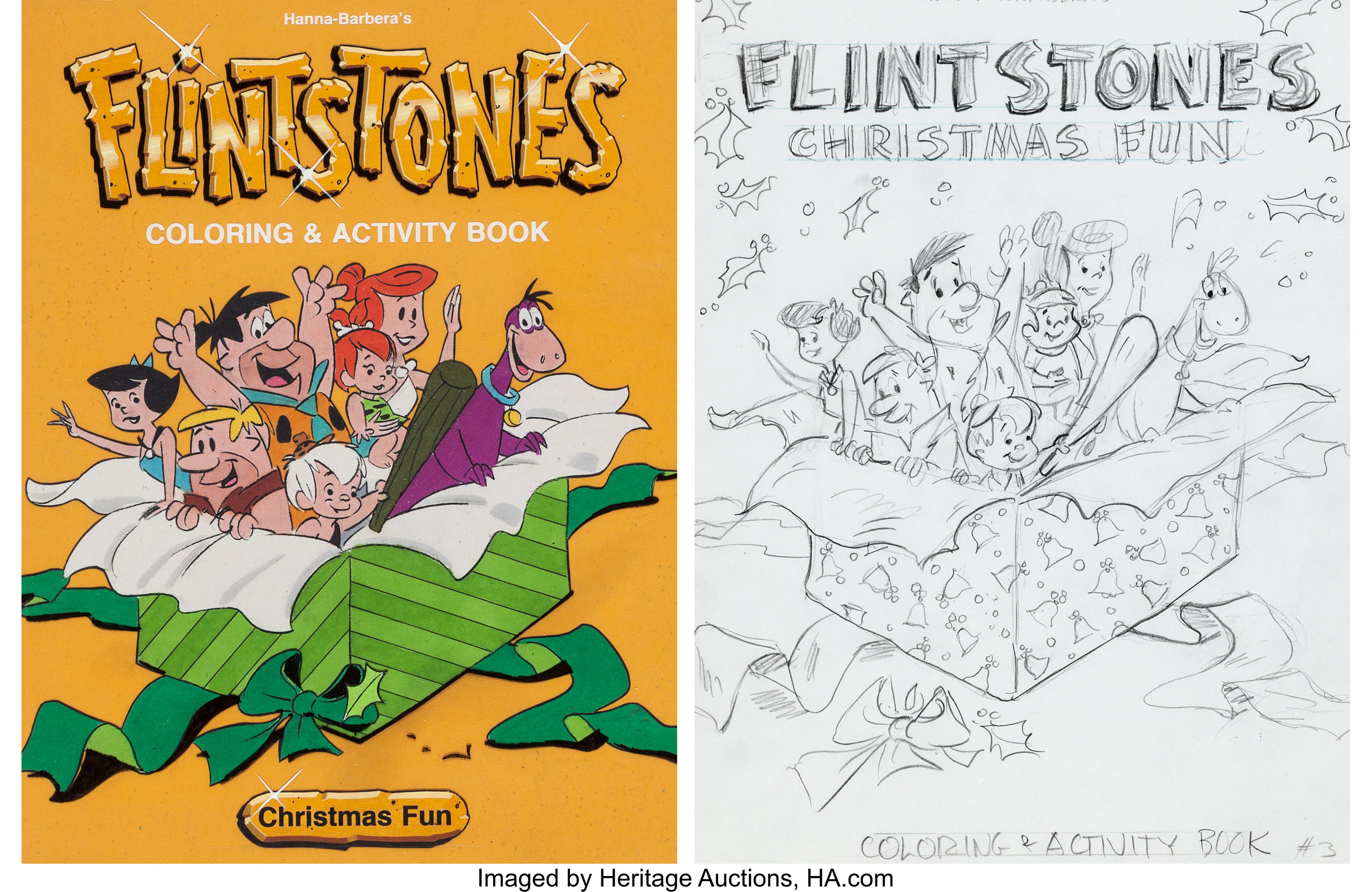 Flintstones Coloring Page - flintstones fred and barney | All Kids ... | 1953x3000