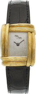 Estate Jewelry:Watches, Henry Dunay Lady's Platinum, Gold Sabi Watch. ...