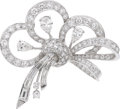 Estate Jewelry:Brooches - Pins, Diamond, Platinum Pendant-Brooch. ...