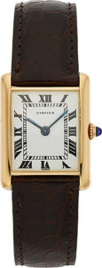 Estate Jewelry:Watches, Cartier Lady's Gold Tank Watch, French. ...