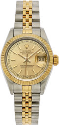 Estate Jewelry:Watches, Rolex Lady's Gold, Stainless Steel Datejust Watch. ...