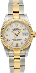 Estate Jewelry:Watches, Rolex Lady's Gold, Two Tone DateJust Automatic Watch. ...