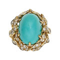 Estate Jewelry:Rings, Turquoise, Diamond, Gold Ring, Van Cleef & Arpels. ...