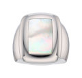 Estate Jewelry:Rings, Mother-of-Pearl, White Gold Ring, Van Cleef & Arpels, French. ...