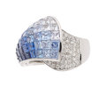 Estate Jewelry:Rings, Sapphire, Diamond, White Gold Ring The ombré ...