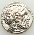 Ancients: MACEDONIAN KINGDOM. Philip II (359-336 BC). AR tetradrachm (24mm, 14.53 gm, 11h). Choice AU, filled test cut...