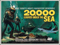 """Movie Posters:Science Fiction, 20,000 Leagues Under the Sea (Walt Disney Productions, R-1960s). Flat Folded, Very Fine-. British Quad (30"""" X 40""""). Science ..."""