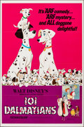 "Movie Posters:Animation, 101 Dalmatians (Buena Vista, R-1969). Flat Folded, Very Fine+. One Sheet (27"" X 41""). Animation.. ..."
