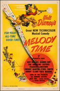 "Movie Posters:Animation, Melody Time (RKO, 1948). Very Fine- on Linen. One Sheet (27"" X 41""). Animation.. ..."